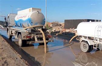 رئيس مدينة مرسى مطروح: كميات الأمطار فاقت التوقعات.. وسواتر ترابية لحماية المنازل | صور
