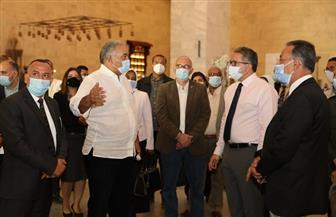 «العناني» يتفقد الاستعدادات بالمتحف القومي للحضارة لاستقبال موكب المومياوات الملكية