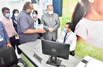 محافظ أسيوط يفتتح مركز خدمة العملاء لشركة المياه بمركز الغنايم | صور