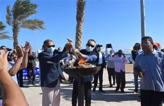 انطلاق شعلة الأولمبياد الرياضي للمحافظات الحدودية بالبحر الأحمر  صور