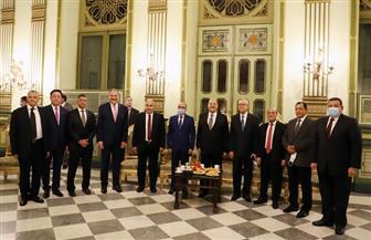 رئيس «القضاء الأعلى» يشهد احتفالية تكريم سفارة كازاخستان لرئيس المحكمة الدستورية ونائبه