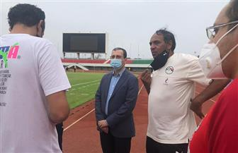 سفير مصر في توجو يحضر مران المنتخب | صور
