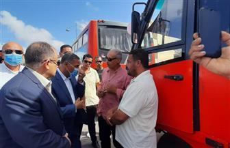 خط أتوبيس جديد يربط وسط مدينة مرسى مطروح بمنطقة علم الروم