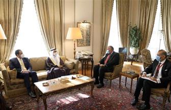 وزير الخارجية يستقبل رئيس البرلمان العربي صور