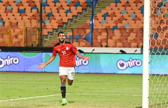 أحمد ياسر ريان يسجل هدف التقدم للمنتخب الأوليمبي أمام البرازيل