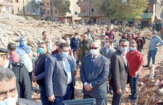 محافظ القاهرة يتفقد إزالة ٣٤٨ عقارا بعزبة الصفيح ونقل ١١٥٠ أسرة للمحروسة