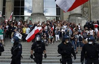 مظاهرات أمام البرلمان الألماني بسبب كورونا