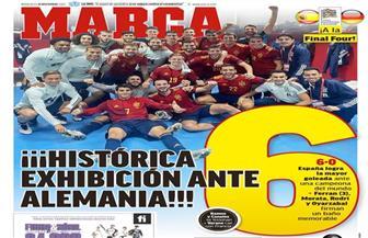 صحف إسبانيا تتغنى بالسداسية التاريخية فى شباك ألمانيا