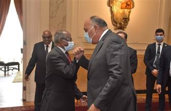وزير الخارجية يستقبل نظيره الإريتري والمستشار السياسي للرئيس الإريتري | صور