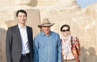 زاهى حواس يصطحب  سفير كوريا الجنوبية في زيارة لأبو الهول   صور