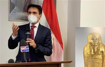 القنصل العام المصري في نيويورك يوقع بروتوكولا لاسترداد إحدى الجداريات الفرعونية