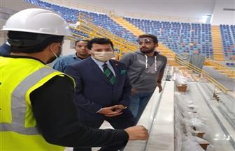 وزير الشباب يتفقد المدينة الرياضية والصالة المغطاة بالعاصمة الإدارية