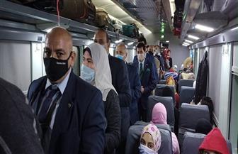 وزيرا النقل والشباب يتوجهان لقطار الشباب فور وصولهما محطة مصر | صور