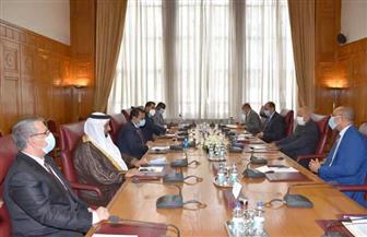 أبو الغيط يعقد اجتماعا تشاوريا مع رئيس البرلمان العربي | صور