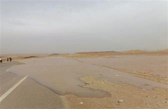 """إعادة فتح طريق """"سفاجا - سوهاج"""" أمام الحركة المرورية بعد إغلاق 3 أيام بسبب السيول"""