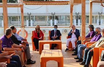 وزيرا الشباب المصري واللبناني في جولة تفقدية بمركز تدريب الكشافة البحرية | صور