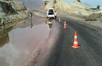 «المرور»: غلق طريق «نويبع - سانت كاترين» لسوء الأحوال الجوية