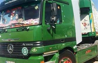 ضبط سيارة نقل محملة بـ750 كيلو أحجار خام الذهب بحوزة سائق بأسوان