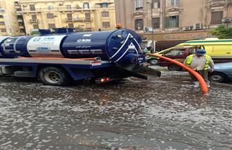 محافظ القاهرة يشرف على شفط مياه الأمطار ويناشد المواطنين عدم النزول |صور