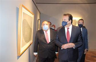 وزير التعليم العالي يتفقد المتحف الفني المعاصر بجامعة حلوان |صور
