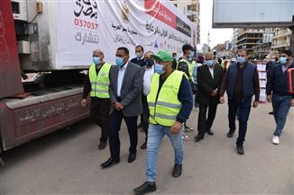 محافظ مطروح يستقبل أكبر قافلة مواد غذائية من صندوق تحيا مصر | صور