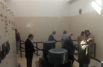 تشغيل تجريبى لمحطة الصرف الصحى بمنطقة ١٦٠٠ فدان بمدينة بدر