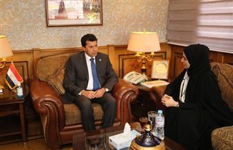 وزير الشباب يبحث التعاون مع الأمين العام للمشروع الوطني للقراءة| صور