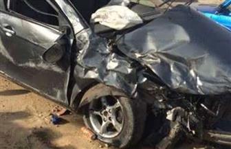 إصابة 4 مواطنين بينهم نقيب شرطة في حادث تصادم بطريق الفيوم