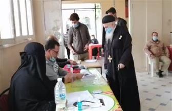 رجال الكنيسة يشاركون بالتصويت في الانتخابات البرلمانية بالفيوم