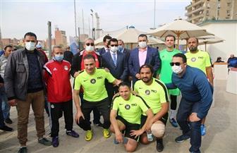 وزير الرياضة يشهد منافسات اليوم الثاني من دوري الوزارات   صور