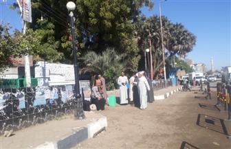 كبار السن والسيدات يتصدرون مشهد  التصويت بعد ساعة من فتح اللجان في أسوان |صور