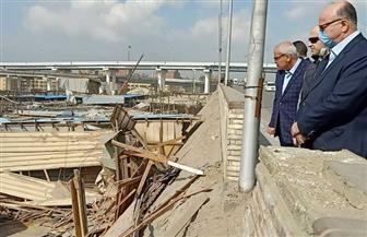 محافظ القاهرة يتفقد إزالة «سوق التونسي القديمة»
