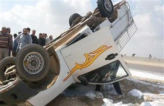 إصابة 5 أشخاص فى انقلاب سيارة بالطريق الصحراوي شمال أسوان