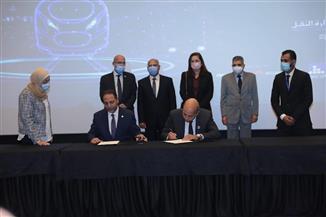 تفاصيل توقيع 5 عقود واتفاقيات على هامش معرض تكنولوجيا النقل | صور
