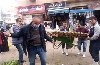 حملة مكبرة لإزالة التعديات والإشغالات من منطقة السوق القديمة بمطروح | صور