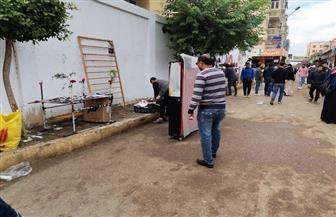 إزالة 100 حالة إشغالات مخالفة بالشوارع والمناطق السكنية في كفر الشيخ | صور