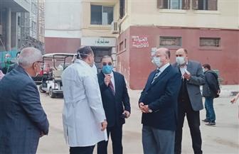 محافظ القاهرة يتفقد مستشفيي حميات العباسية والصدر