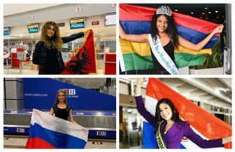 وصول عدد من المشاركات بمسابقة ملكات جمال المراهقات في الغردقة | صور