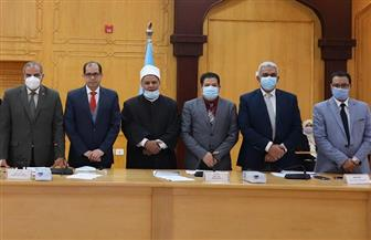 مجلس جامعة الأزهر يشدد على ضرورة الالتزام بالإجراءات الاحترازية | صور
