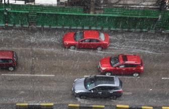 شاهد وسط القاهرة خلال الأمطار والثلوج    صور