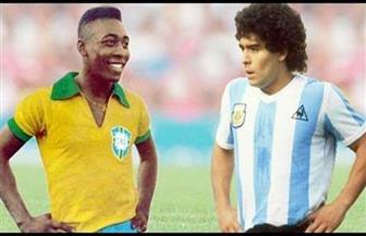 «بيليه» ناعيا «مارادونا»: أتمنى أن نلعب يوما كرة القدم في السماء