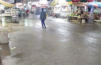 أمطار غزيرة تغرق شوارع محافظة دمياط   فيديو