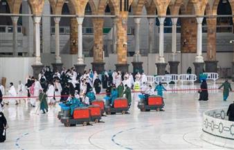 شئون الحرمين تكثف جهودها لإزالة آثار الأمطار لسلامة قاصدي المسجد الحرام