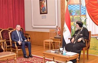 البابا تواضروس يستقبل سفير مصر في بولندا | صور