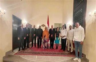 السفير المصري في جيبوتي يلتقي وزيري الإسكان والشباب الجيبوتيين