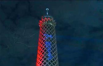 برج القاهرة يبعث رسالة لجماهير الرياضة المصرية  صور