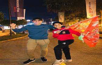 فرحة عارمة لجماهير الأهلي بفرع الجزيرة | فيديو وصور