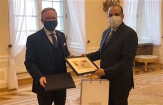 رئاسة جمهورية بولندا تودع السفير المصري في وارسو بمقر القصر الرئاسي | صور
