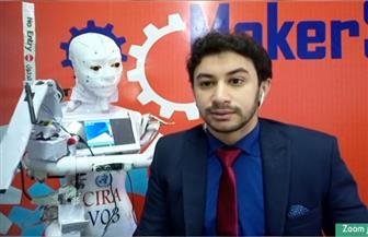 المخترع المصري لروبوت مسحات كورونا: «أتمنى تصنيعه في مصر بدلا من الخارج» | فيديو
