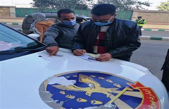 محافظ الشرقية: تغريم 48 سائقا لعدم ارتداء الكمامة الواقية من فيروس الكورونا |صور
